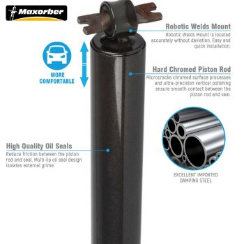 Maxorber Full Set Shocks Struts Absorber Compatible with Chevrolet Blazer 4WD 95-05 Replacement for GMC Jimmy 4WD 92-05 Replacement for Isuzu Hombre 4WD 1998-2000 Shock Absorber 344042 344041